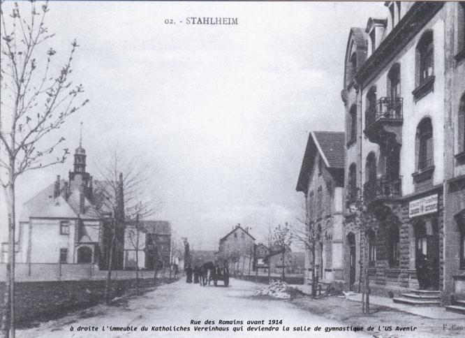 Rue des Romains avant 1914